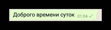 Недошедшее сообщение в WhatsApp